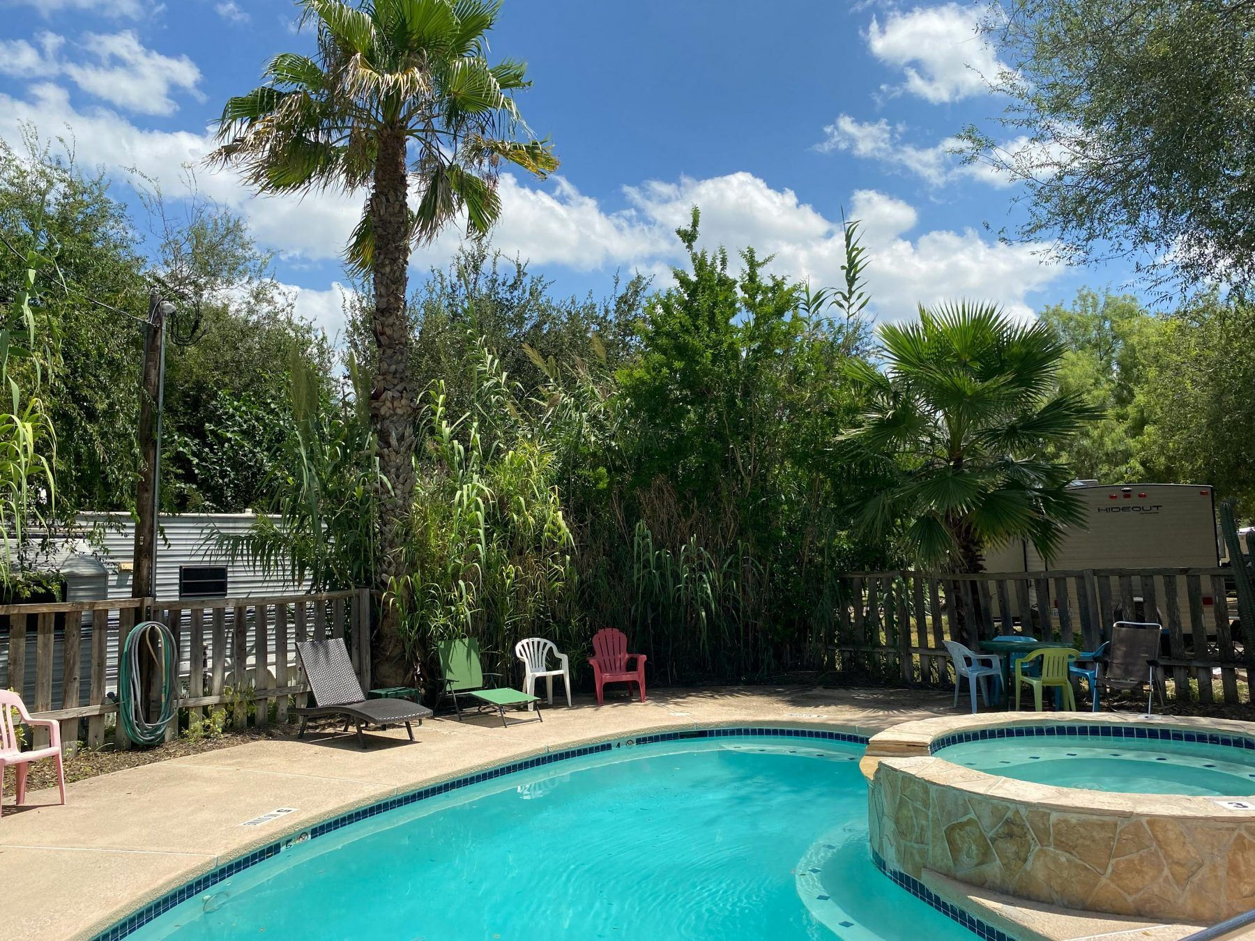 Enjoy the pool and spa at our RV park near Mission, TX