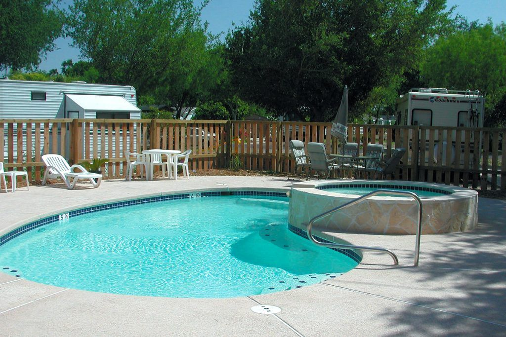 Enjoy a dip in the saline pool at our Palmview, TX RV Park